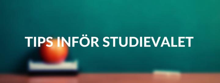 Tips inför studievalet