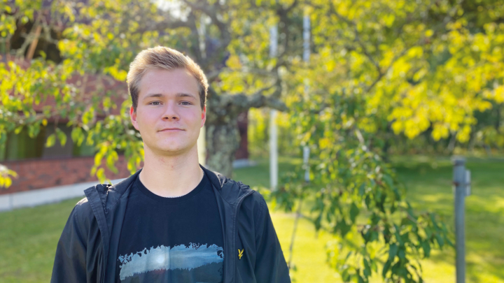 Isak Eriksson trivs på Campus Roslagen